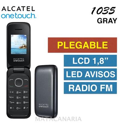 ALCATEL 1035D ONETOUCH DS GRAY