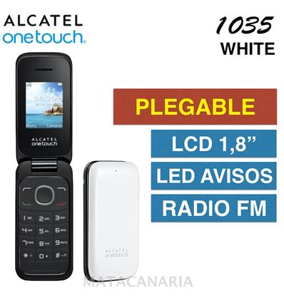 ALCATEL 1035D ONETOUCH DS WHITE
