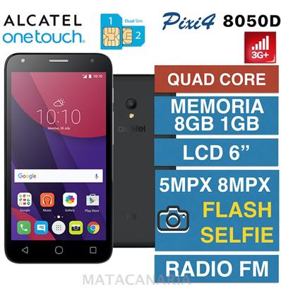 ALCATEL 8050D PIXI 4 (6) 3G BLACK