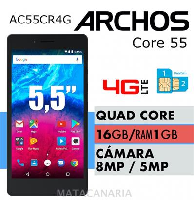 ARCHOS 503419 CORE 55 4G 16GB BLACK