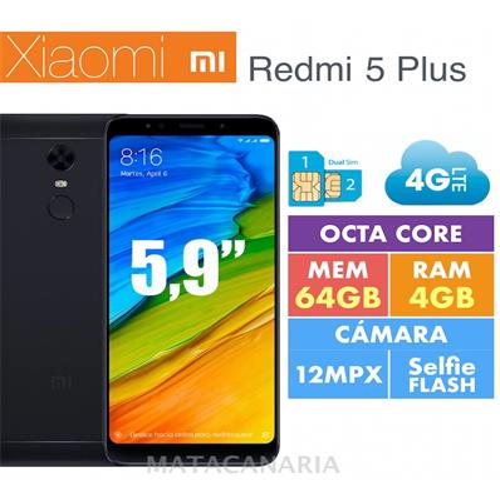 XIAOMI REDMI 5 PLUS 4GB RAM 64GB DS BLACK