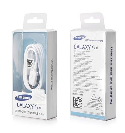 SAMSUNG EP-DG925UWE CABLE MINI MICRO USB 1.2M  WHITE BOX