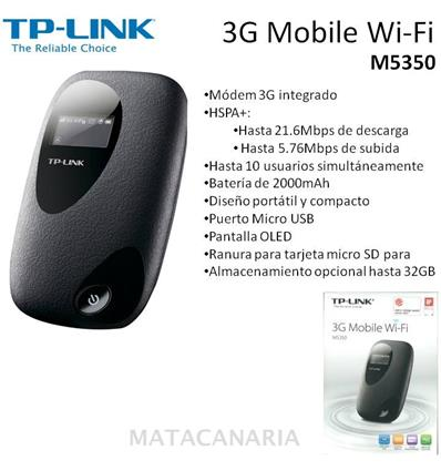 TP-LINK M5350 ROUTER WI-FI MOVIL 3G