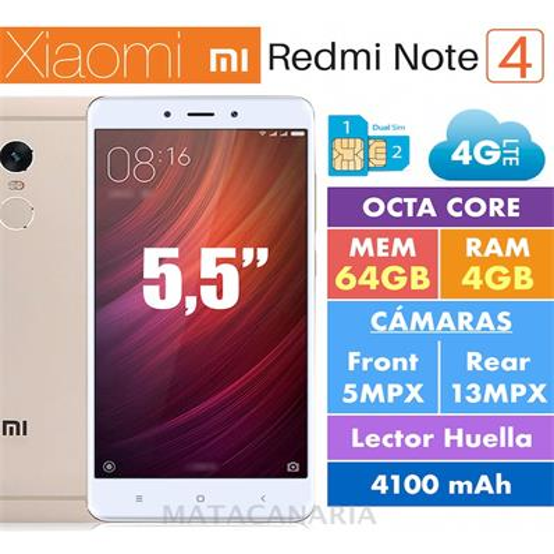 XIAOMI NOTE 4 DS 4GB RAM 64GB ROM GOLD