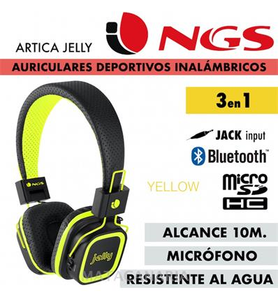 NGS ARTICA JELLY AUR BLUETOOTH MP3 YELLOW