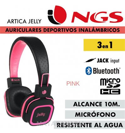 NGS ARTICA JELLY AUR BLUETOOTH MP3 PINK