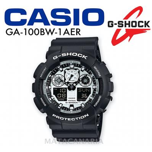 CASIO GA-100BW 1AER G-SHOCK