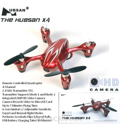 THE HUBSAN PH-H107C X 4 DRONE