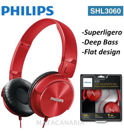 PHILIPS SHL-3060 AURICULAR RED