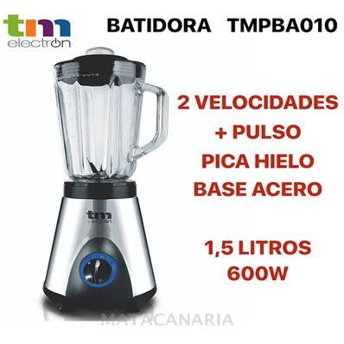 TMPBA010 BATIDORA JARRA CRISTAL 1.5 L 600 W