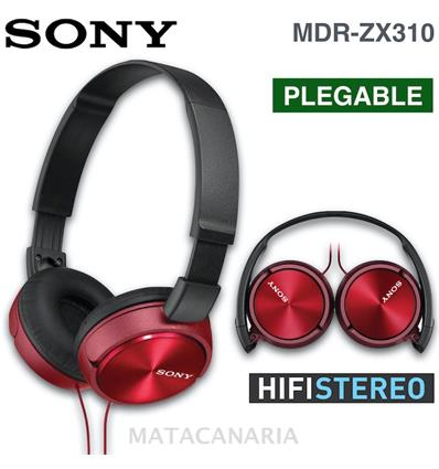 SONY MDR-ZX310 AURICULAR RED