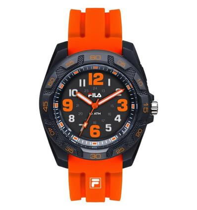 FILA 38-091-005  RELOJ BLACK/ORANGE