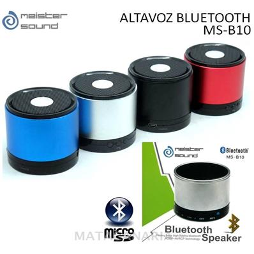 MEISTER SOUND MS-B10 ALTAVOZ BLUETOOTH GRAY