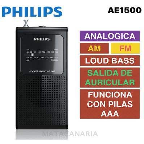 PHILIPS AE-1500 RADIO AM/FM
